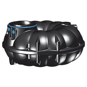 Flachtank-NEO-3000L-schwarz-blauer-Ring