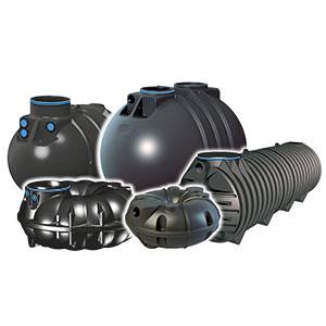 verschiedene Ausführungen von Kunststofftanks